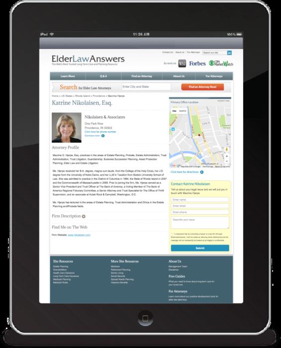 ElderLawAnswers.com Ipad