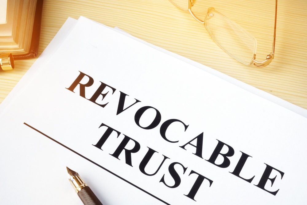 picture of a revocable trust document